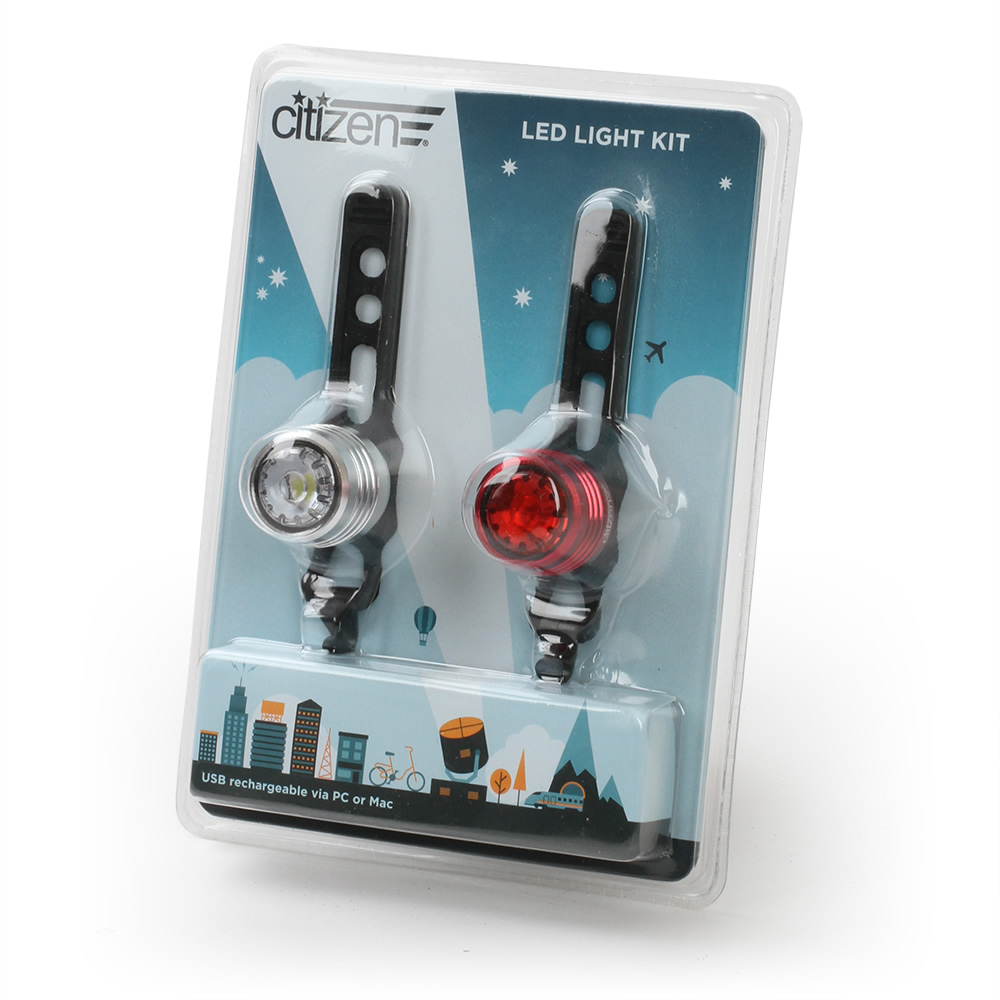 Citizen Bike USB Rechargeable LED Light Kit