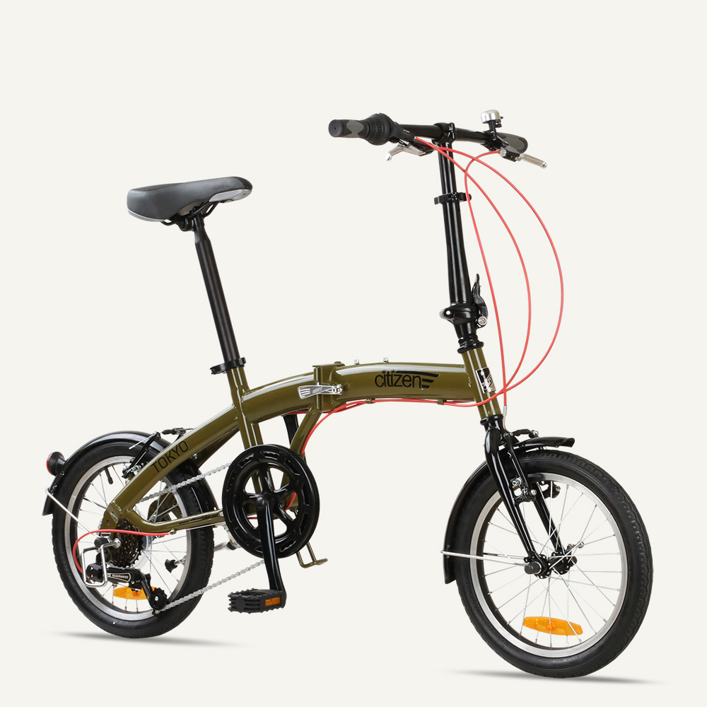 "TOKYO Citizen Bike 16"" 6-speed Folding Bike with Ultra-Portable Frame"